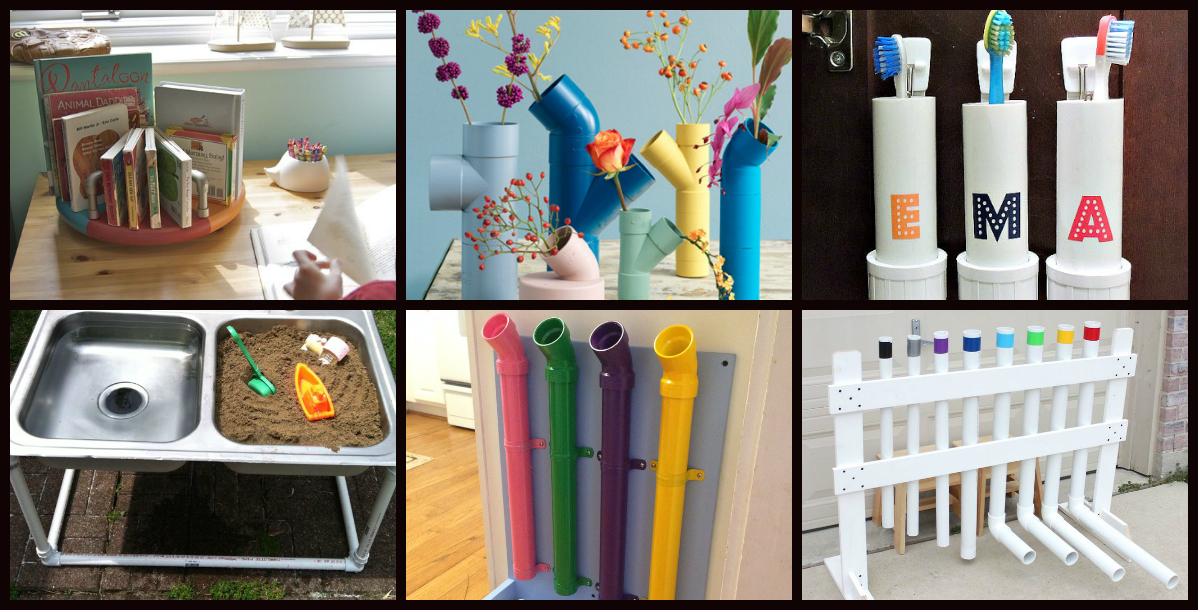 50 manualidades con tubos de pvc para casa y para clase - Construir y decorar casas ...