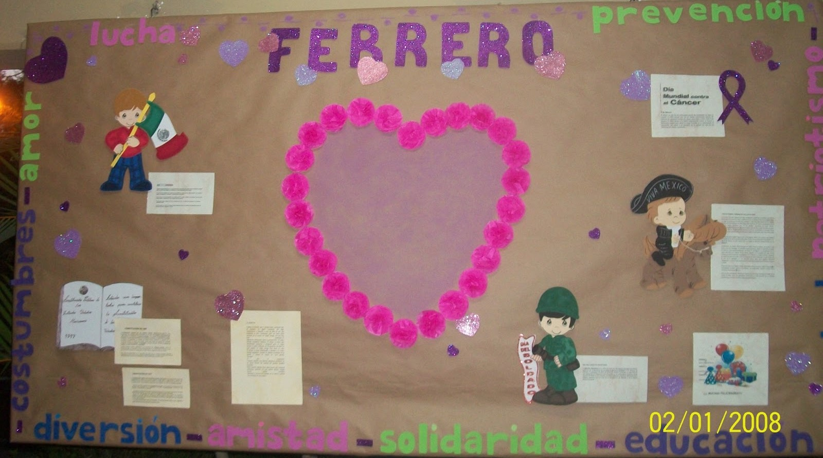 Periodico mural febrero 1 imagenes educativas for Como decorar un mural
