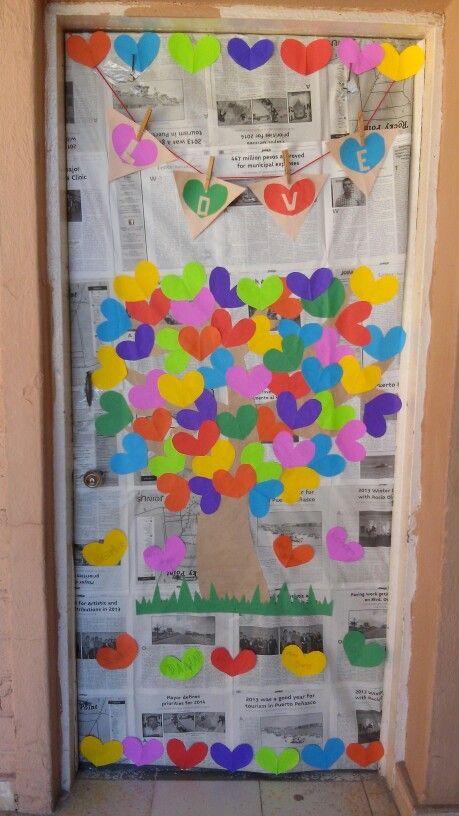 Puertas san valent n 6 imagenes educativas - Decorar cristales de puertas ...