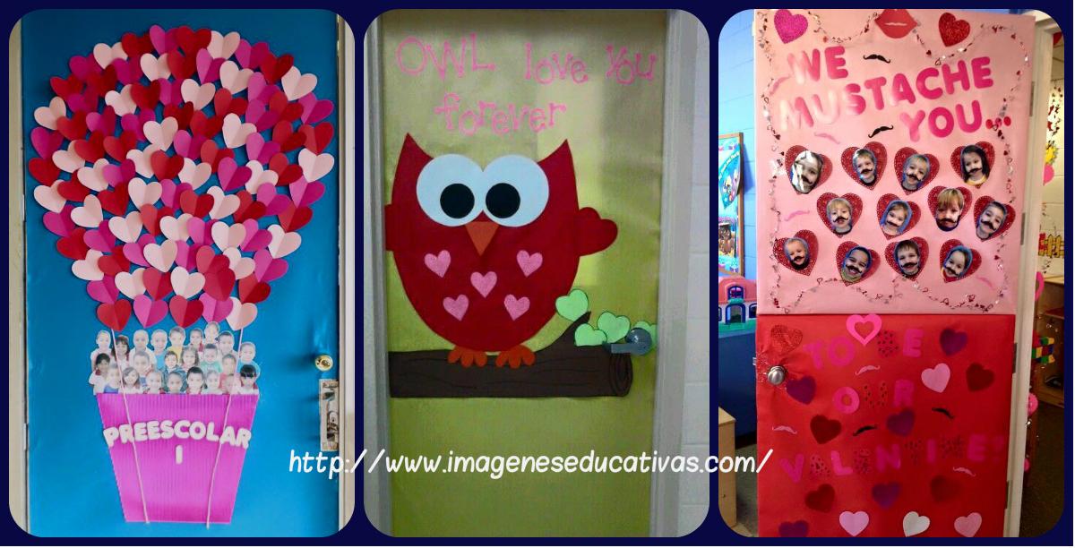 Colecci n de puertas para decorar nuestras clases el 14 for Puertas decoradas del 14 de febrero