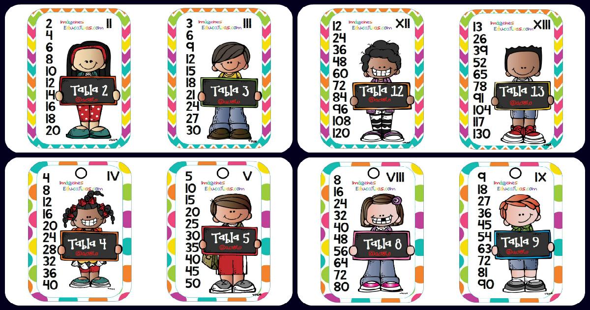 tablas de multiplicar del formato llaveros y librito imagenes educativas