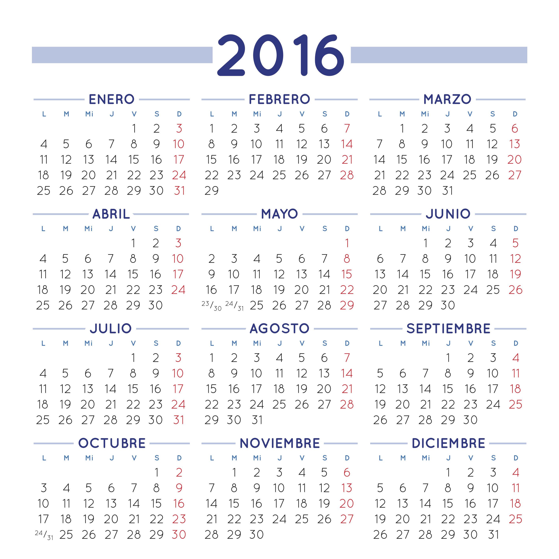 Calendario gratuito para 2016. Calendario para 2016 gratis. Calendario ...