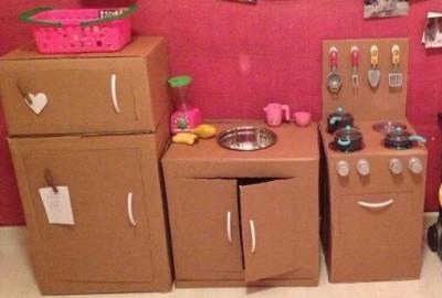 20 nuevas ideas para hacer cocinas de cart n para ni os y