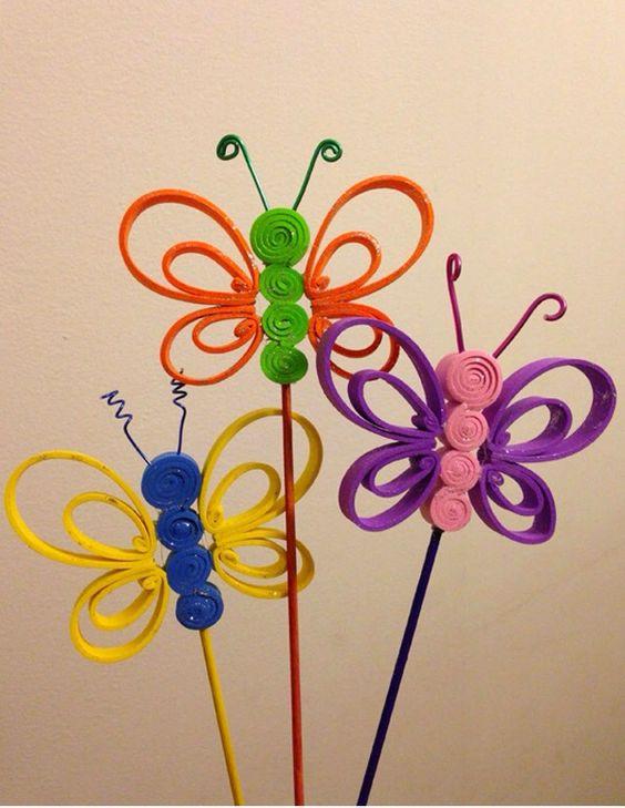Adornos para l pices manualidades diy 3 imagenes for Decoracion del hogar en primavera