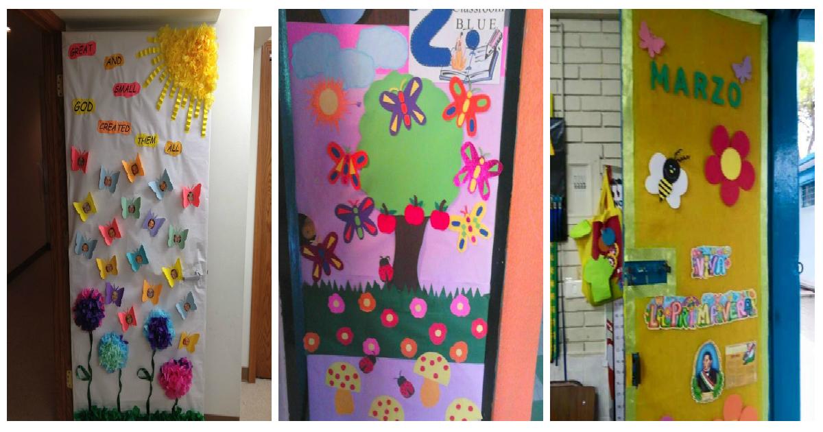 Decoracion puertas clase primavera portada2 imagenes for Decoracion puerta aula infantil