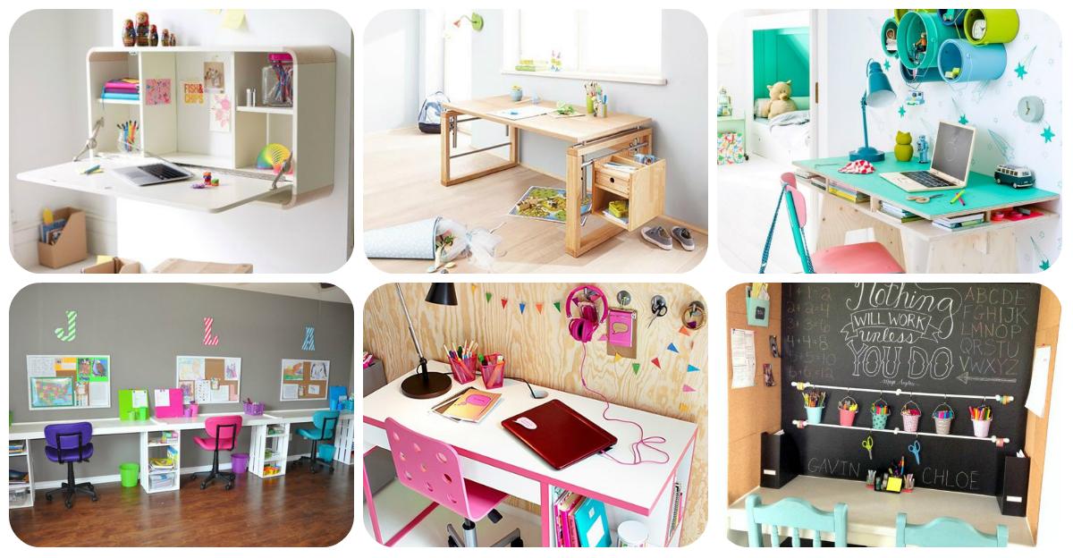 Escritorios y zonas de trabajo para ni os portada for Ideas para decorar un estudio en casa