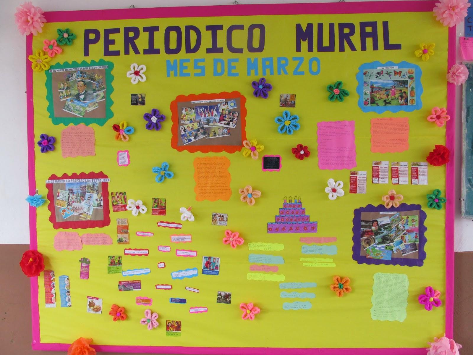Peri dico mural marzo 7 imagenes educativas for Editorial de un periodico mural