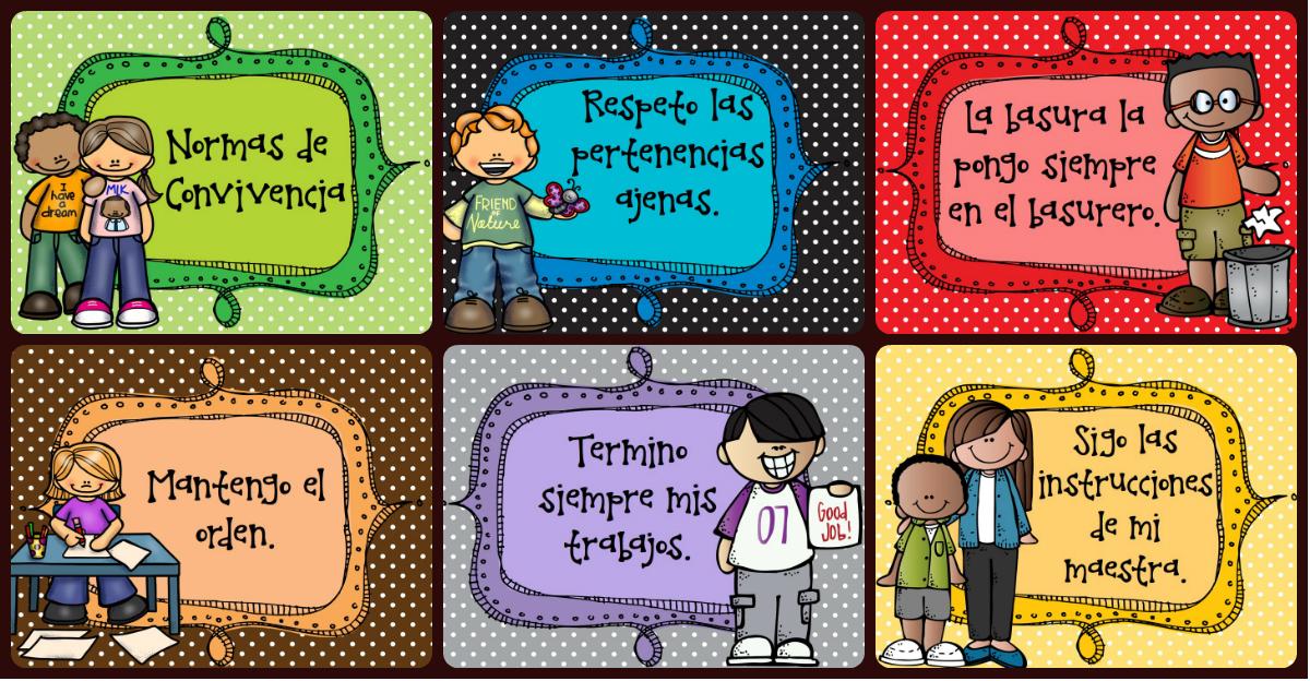Normas de convivencia en clase: Cartelería para el aula - Imagenes