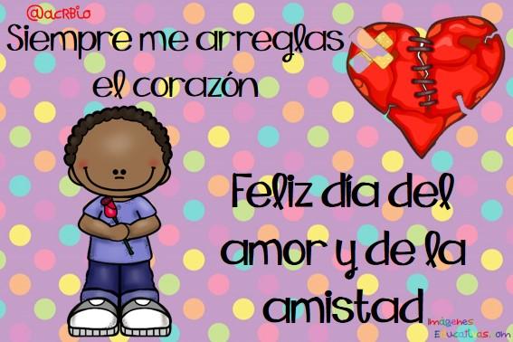 Tarjetas Para El Dia Del Amor Y De La Amistad 8 Imagenes Educativas