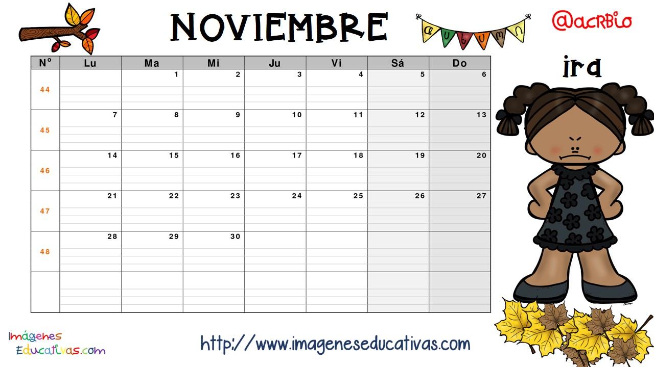 Calendario de las emociones 12 imagenes educativas - Mes noviembre 2017 ...