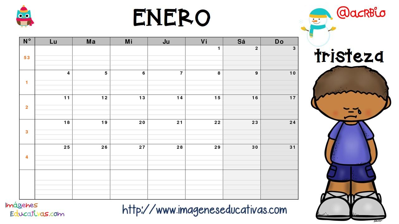 Imagenes Educativas Para Descargar: Calendario De Las Emociones (2)