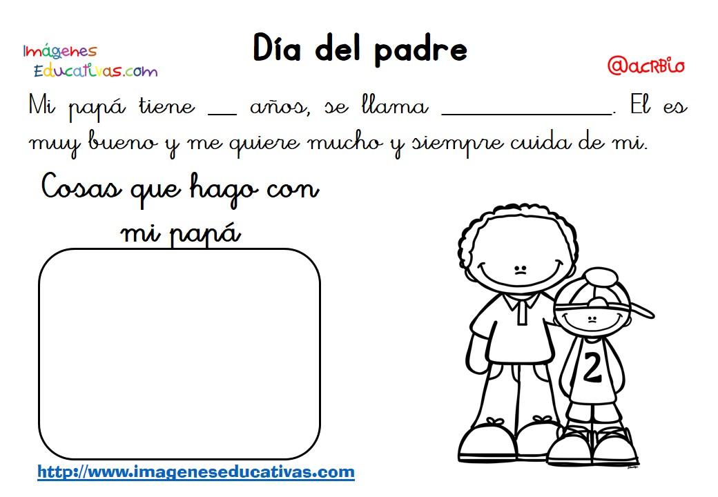 Fichas d a del padre 2 imagenes educativas for Actividades para el primer dia de clases en el jardin