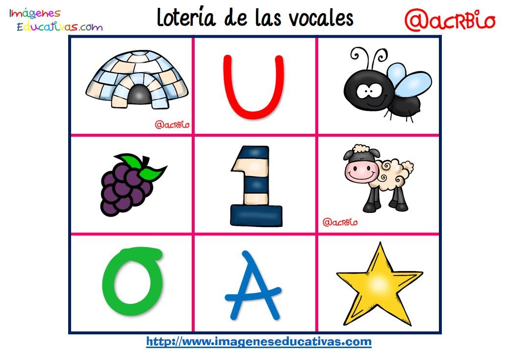 Loter a bingo de las vocales 7 imagenes educativas for Cose con la g