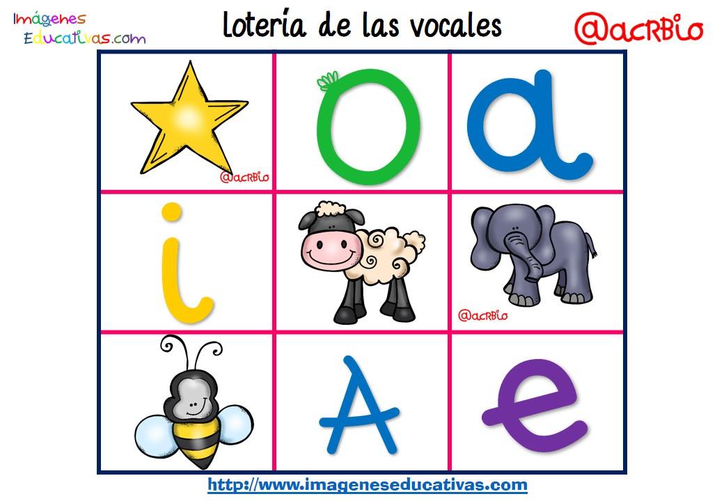 Lotería Bingo de las vocales (12) - Imagenes Educativas