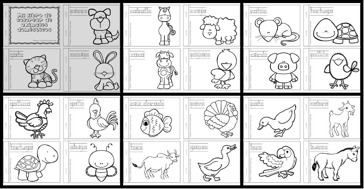 Mi libro de colorear de animales dom sticos imagenes - Casa del libro valencia horario ...