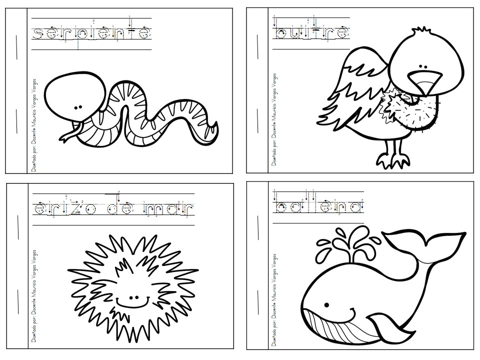 Mi libro de colorear de animales salvajes (4) - Imagenes ...