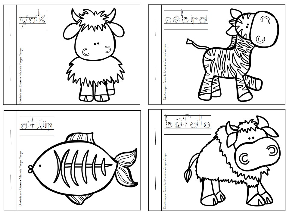 Dibujos Para Colorear Imprimir Pdf: Mi Libro De Colorear De Animales Salvajes (5)