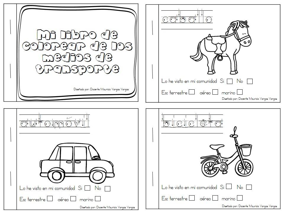 Mi Libro De Colorear De Medios De Transporte (1