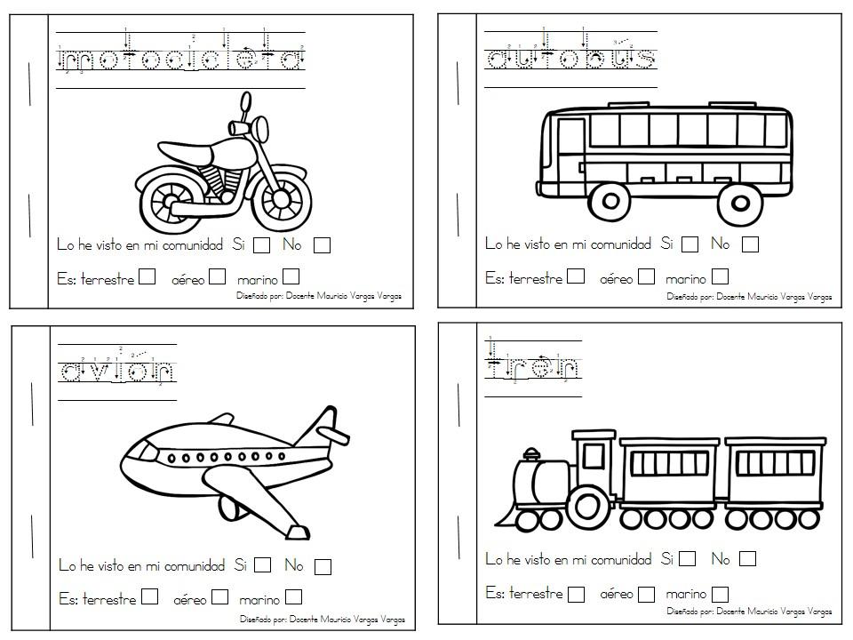 Transportes Por Tierra Para Colorear: Mi Libro De Colorear De Medios De Transporte (2