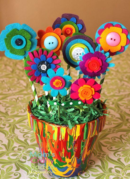 Regalos Y Manualidades Dia De La Madre Flores 29