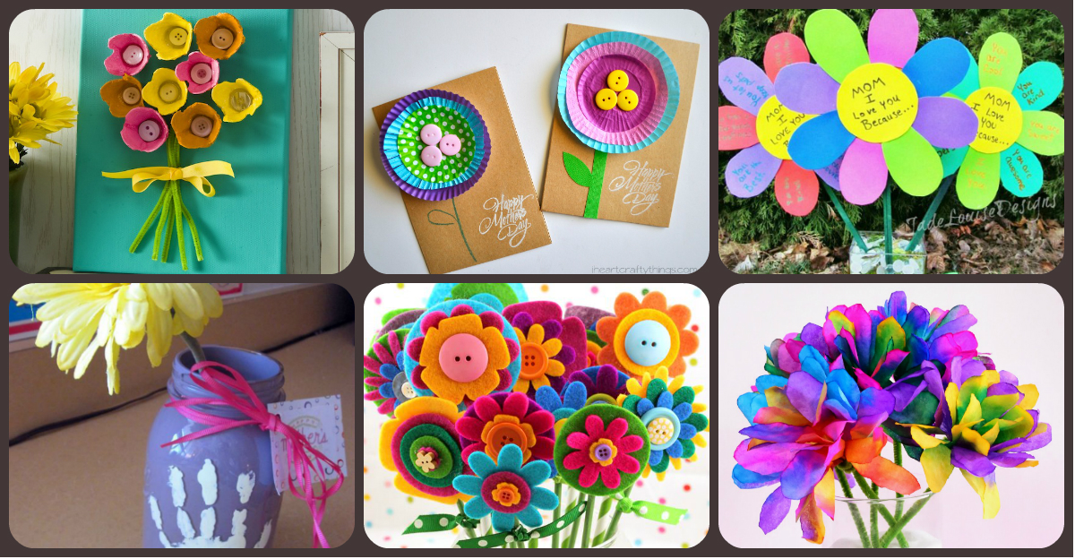 10 de mayo regalos manualidades para el d a de la madre for Trabajos manuales sencillos