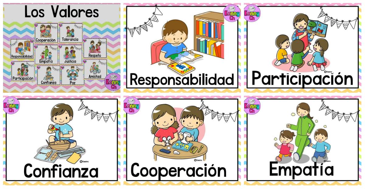 Tarjetas imprimibles para trabajar los valores ideales for Decoracion del hogar pdf
