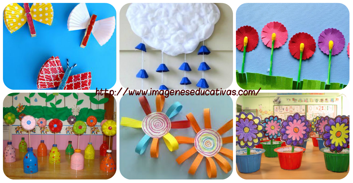M s de 50 manualidades para ni os y ni as especial for Decoracion primavera manualidades