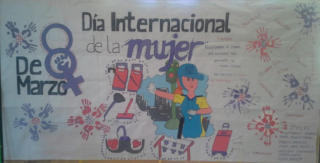 Mural del d a 8 de marzo d a internacional de la mujer 1 for Cuanto cobrar por pintar un mural