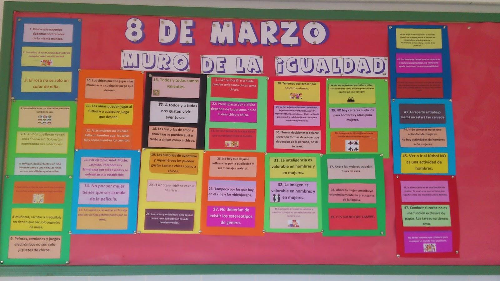 Ideas para el mural del d a 8 de marzo d a internacional for El mural pelicula descargar
