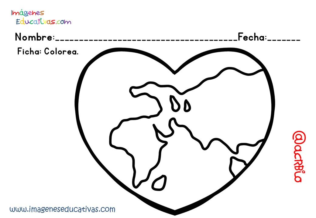 best Imagenes Para Colorear Del Dia De La Tierra Para Niños image ...