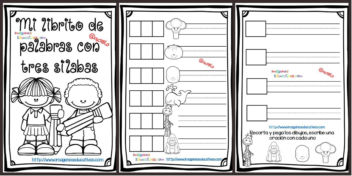 Mi librito de palabras tres silabas PORTADA – Imagenes