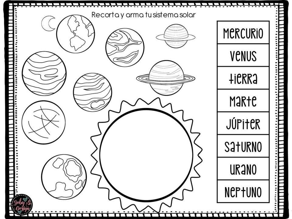 Dibujos Para Colorear Del Sistema Solar Para Ninos: Nuestro Sistema Solar (6)