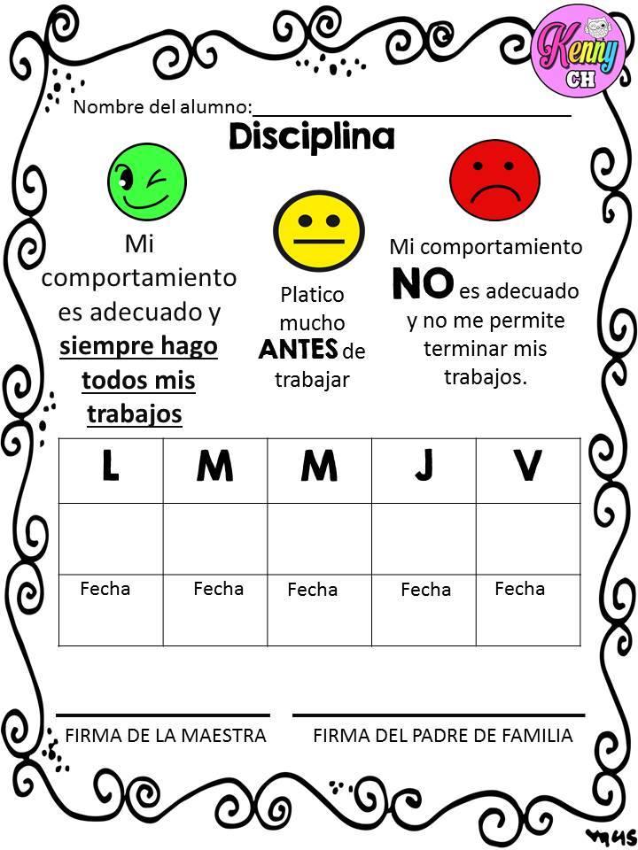 SEMÁFOROS DE CONDUCTA (6) - Imagenes Educativas