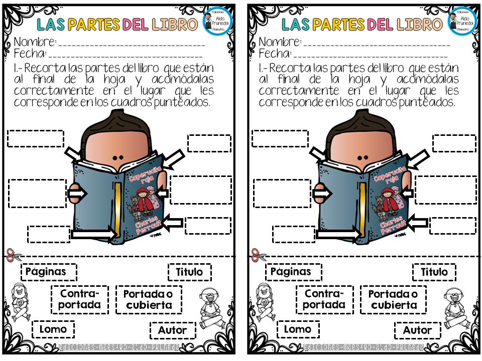 Partes del libro imagenes educativas for Partes de una biblioteca