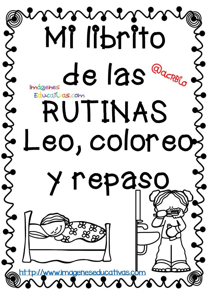 Rutinas libro para colorear y aprender (1) - Imagenes ...