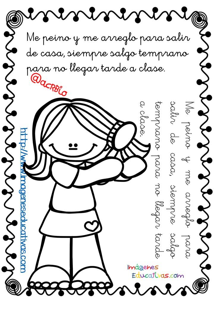 Rutinas libro para colorear y aprender (5) - Imagenes ...