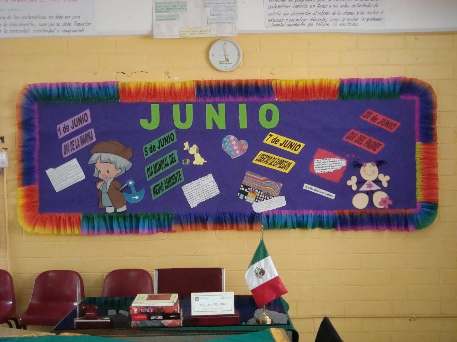 Peri dico mural mes de junio 11 imagenes educativas for Como decorar un mural
