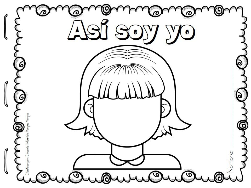 Yo Para Colorear: ASÍ SOY YO Identidad Personal (25)