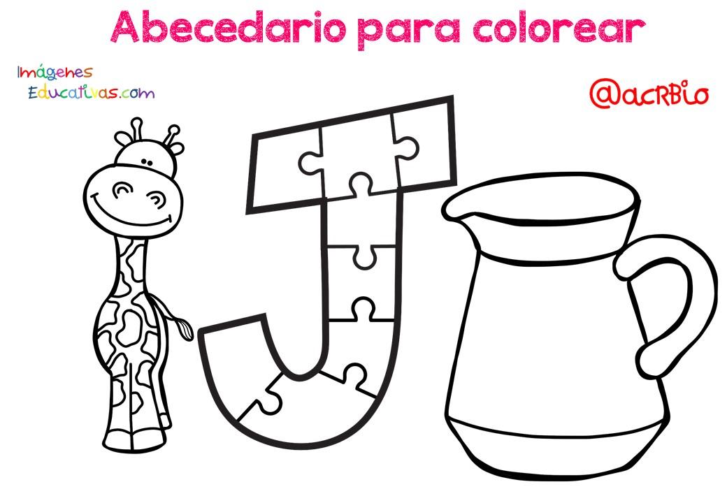 Alfabeto Para Colorear: Abecedario Para Colorear (10)