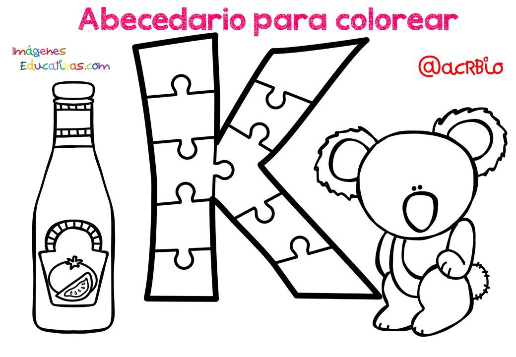 Imagenes Educativas Para Descargar: Abecedario Para Colorear (11)