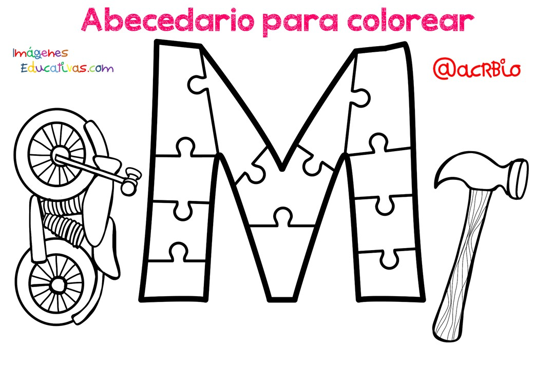 Imagenes Educativas Para Descargar: Abecedario Para Colorear (13)
