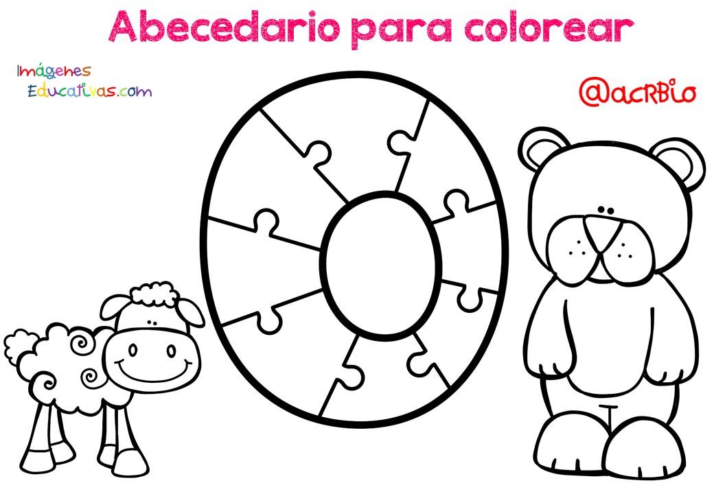 Alfabeto Para Colorear: Abecedario Para Colorear (16)