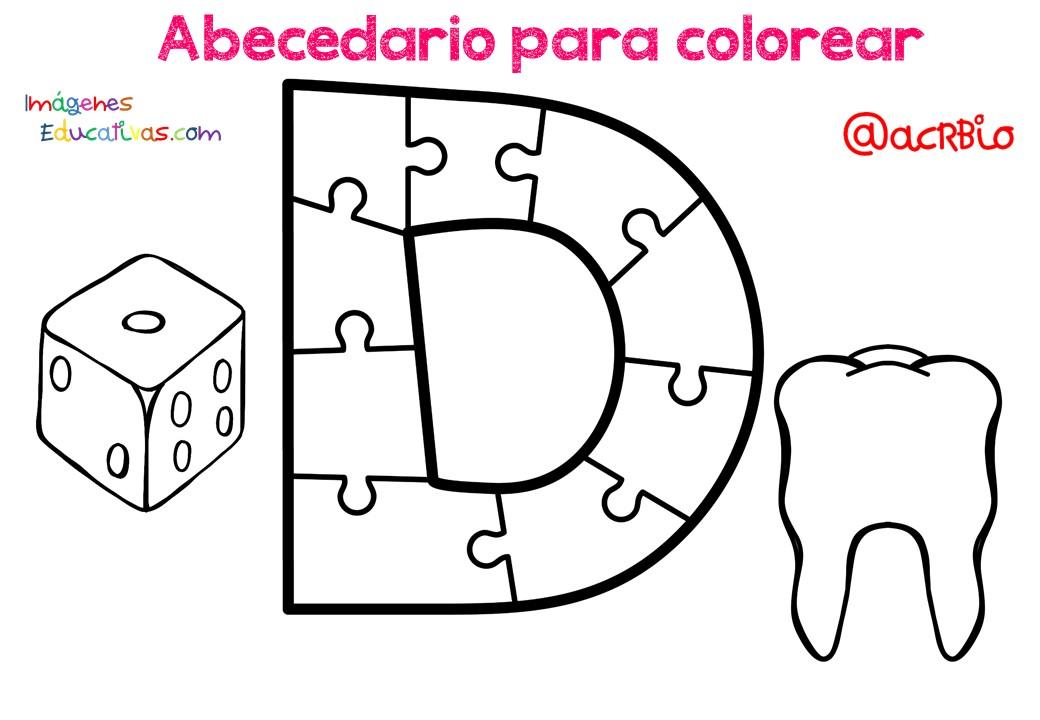Alfabeto Para Colorear: Abecedario Para Colorear (4)