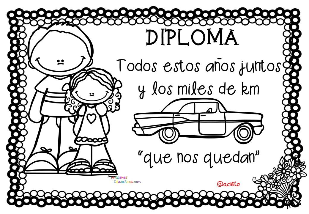 Día Del Abuelo Tiernas Imágenes Para Colorear: Diplomas Día Del Padre (7)