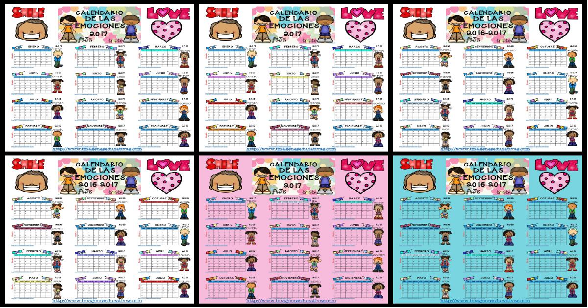 Calendario 2017 para trabajar las emociones por meses CURSO 2016-2017 ...