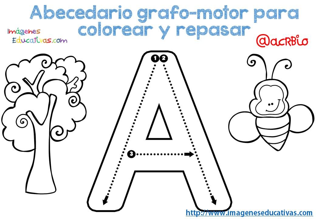 Imagenes Educativas Para Descargar: Abecedario-grafo-motor-para-colorear-y-repasar-1
