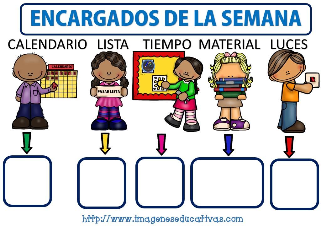 Registro de encargados de clase formato editable for Actividades para el salon de clases de primaria