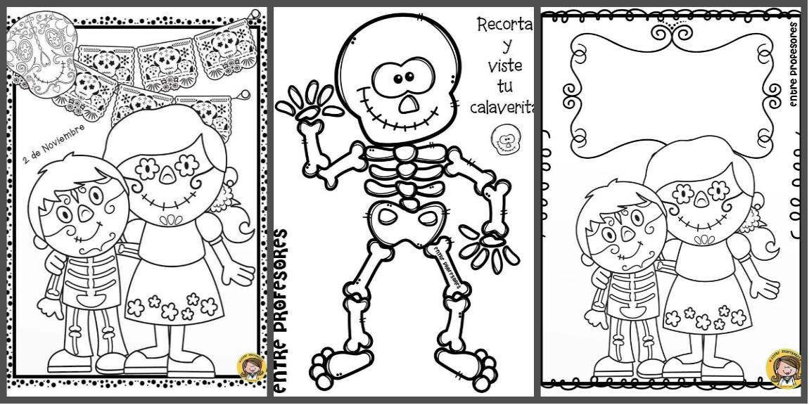 Dibujos Para Colorear El Día De Los Muertos Imagenes Educativas