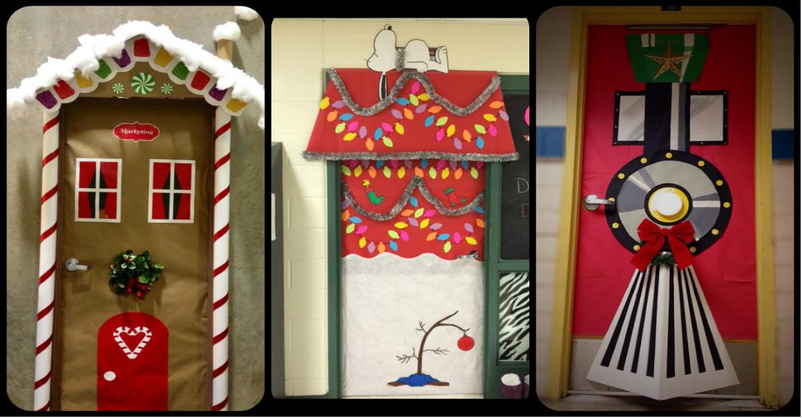 S per ideas totalmente nuevas para decorar las puertas de for Como decorar una puerta en navidad