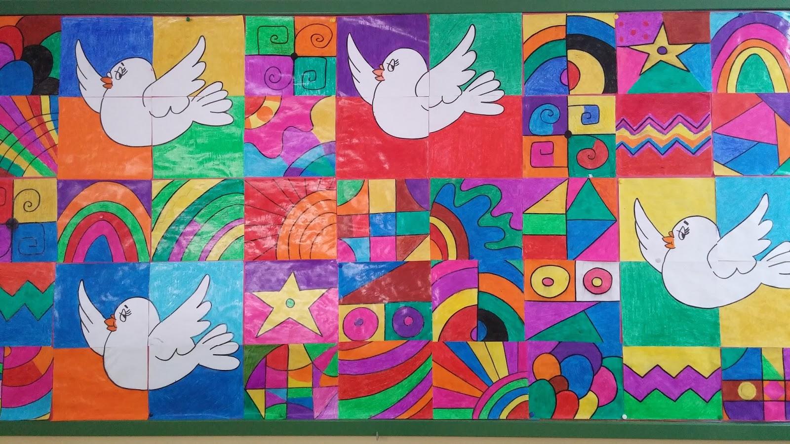 Murales d a de la paz 4 imagenes educativas for Murales infantiles para preescolar